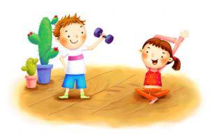 Гимнастика с детьми в картинках можно накачаться турником и брусьями