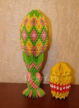 Модульное оригами. Пасхальное яйцо. Мастер класс