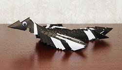 Модульное оригами. Сорока. Схема сборки