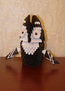 Модульное оригами. Сова. Мастер-класс