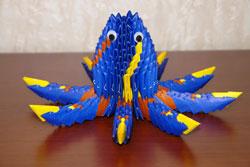 Модульное оригами. Осьминог. Схема сборки