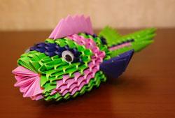 Модульное оригами. Рыбка. Мастер-класс