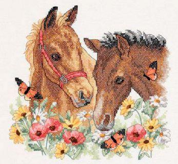 Картинки для вышивки крестом лошадь