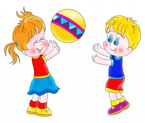 Картинка для детей девочка играет в мяч