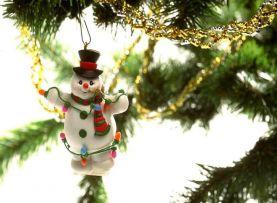 Объёмный Снеговик из бумаги своими руками