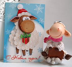Новогодние открытки с 2015 годом своими руками