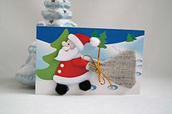 Новогодняя открытка с Дедом Морозом своими руками. Мастер-класс с фото