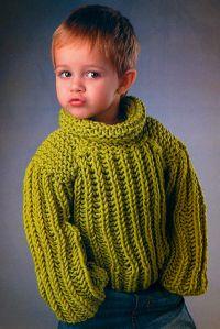 ребенка вяжем 3 на лет свитер