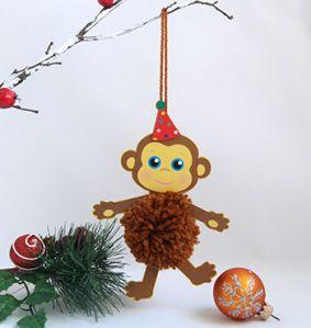 Новогодняя игрушка обезьяна своими руками фото