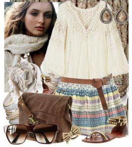 фольклорный стиль одежды рисунок