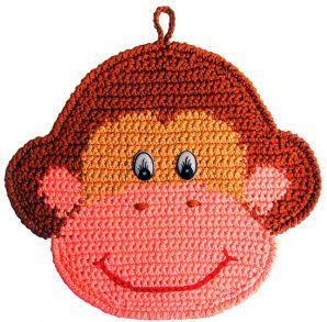 Как связать прихватку обезьянку крючком