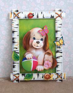 3d аппликация из бумаги «Собачка» для детей 5-8 лет. Шаблоны. Мастер-класс с пошаговыми фото
