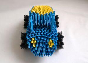 Модульное оригами Машина. Схема сборки. Пошаговая инструкция с фото