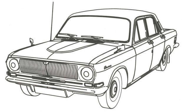 Легковой автомобиль раскраска для детей