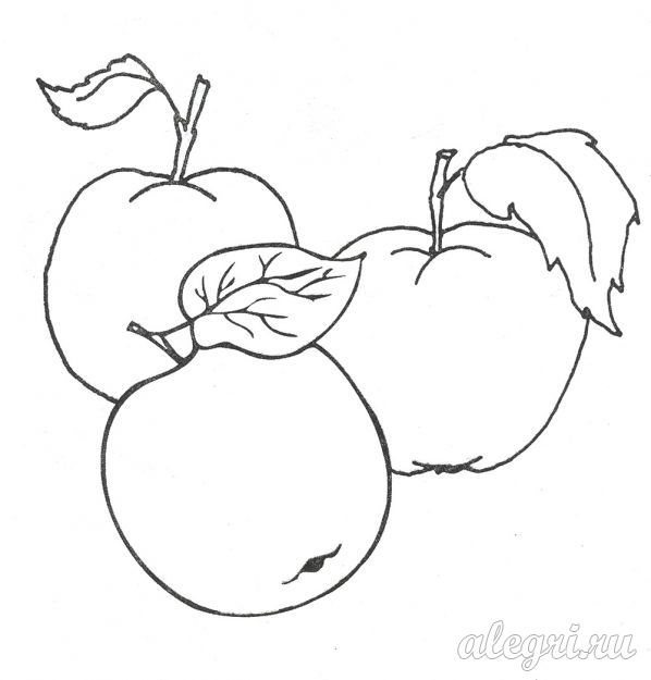 Раскраска для детей. Яблоки