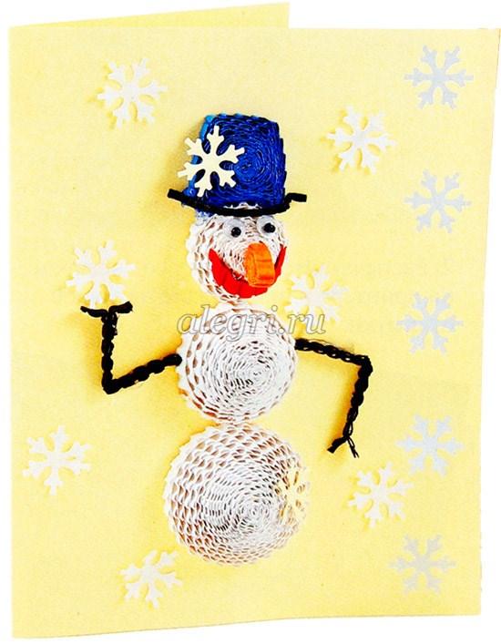 Снеговик из гофрокартона