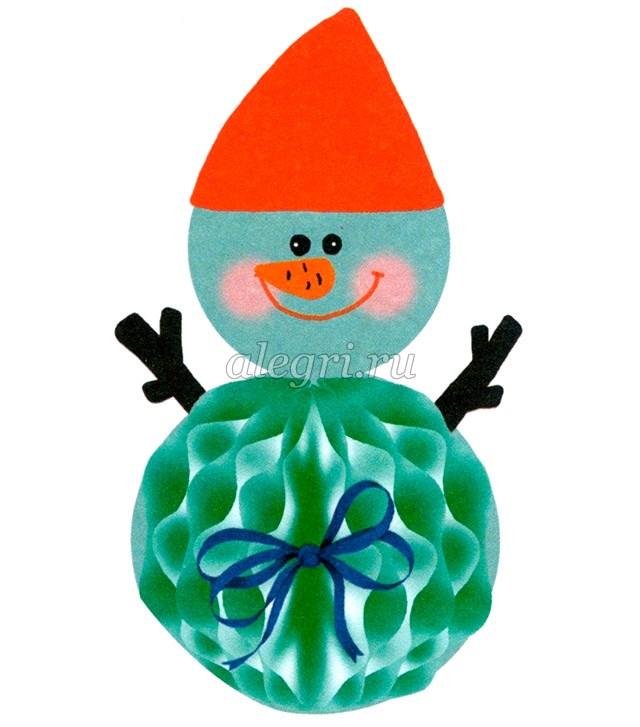 Новогодний подарок снеговик своими руками