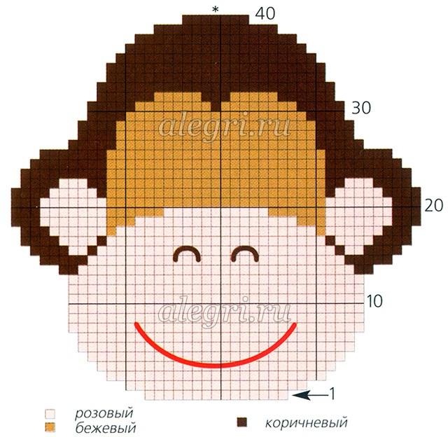 обезьянку крючком